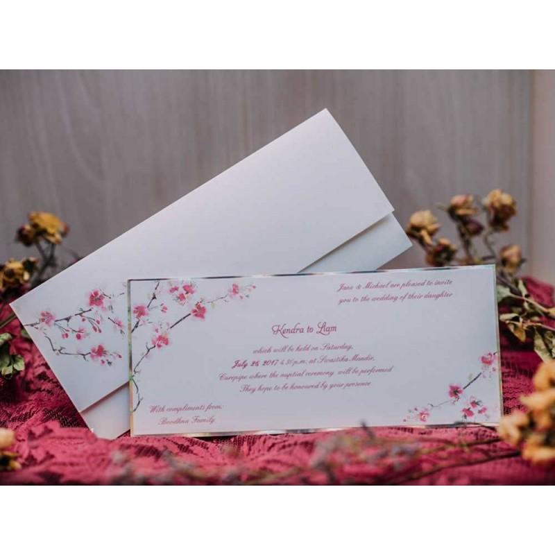 Invitatii De Nunta Elegante Cu Model Flori De Cires 50521