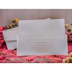 Invitatie de nunta cu model floral vinatage 50518