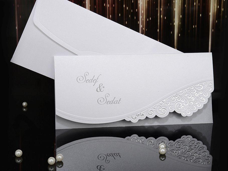 Invitatii Pentru Nunta Elegante Cu Model Argintiu 15028
