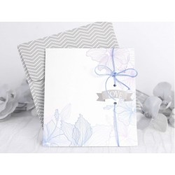 "Invitatie de nunta vintage cu model ""Love Flower"" 39234"
