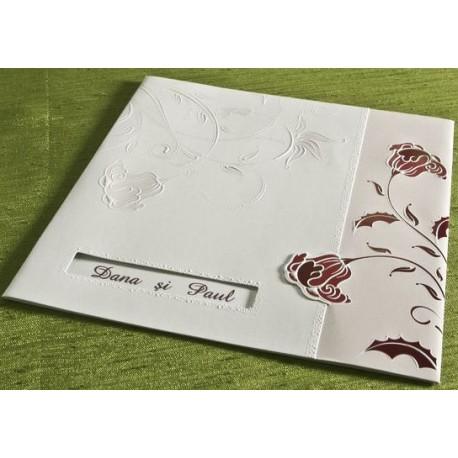 Invitatie de nunta eleganta cu flori 30216