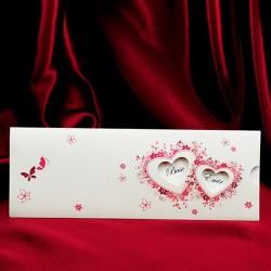 Invitatie de nunta cu inimi din flori si fluturi 131