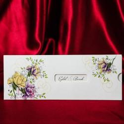 Invitatie de nunta eleganta cu flori 132