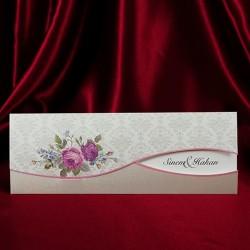 Invitatie de nunta vintage cu trandafiri shabby 134