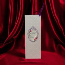 Invitatie de nunta eleganta cu model floral 136