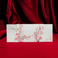 Invitatie de nunta cu flori de cires 138