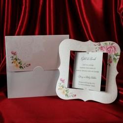 Invitatie de nunta cu trandafiri vintage 141