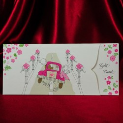 invitatie de nunta cu miri haiosi in masina 143