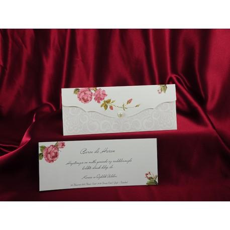 Invitatii Pentru Nunta Vintage Shabby Ieftine Cu Flori Colorate 160