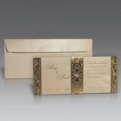 Invitatie de nunta vintage cu perla 1008