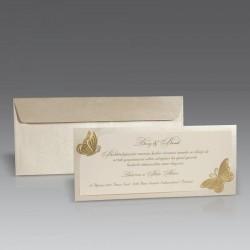 Invitatie de nunta eleganta cu fluturi 1437