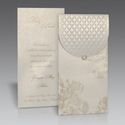 Invitatie de nunta eleganta cu model floral 1439