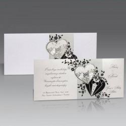 Invitatie de nunta eleganta cu miri 1448