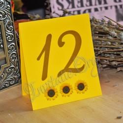 Numar de masa cu Floarea Soarelui