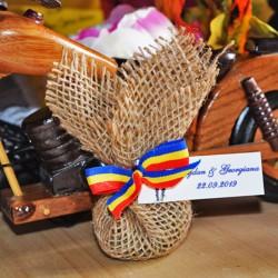 Marturie Saculet traditional rustic cu Lavanda