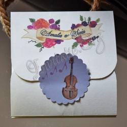 Invitatie cu Tema muzicala - Instrumente muzicale