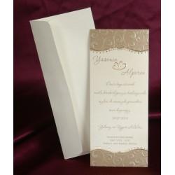 Invitatie de nunta eleganta 2508