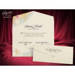 Invitatie de Nunta eleganta cu Motive marine 2701