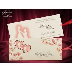 Invitatie de Nunta Romantica cu Miri si Flori de Cires 2704