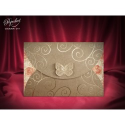 Invitatie de Nunta Craft-eleganta cu Fluturas 2717