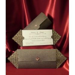 Invitatie de nunta vintage 2565