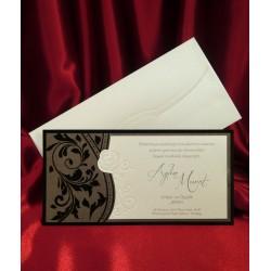 Invitatie de nunta eleganta cu catifea 2568