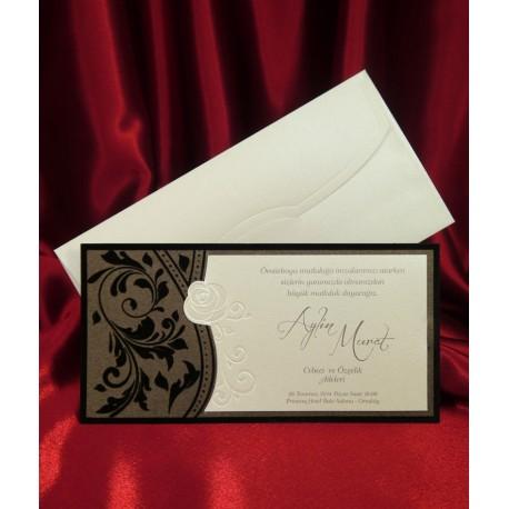 Invitatii Nunta Eleganta Ieftine Cu Catifea 2568