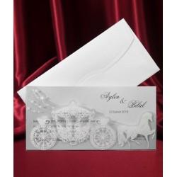 Invitatie de nunta cu caleasca 2578