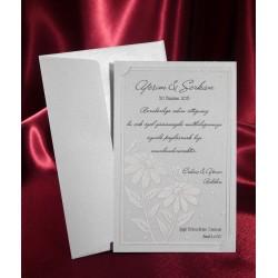 Invitatie de nunta cu flori 2579