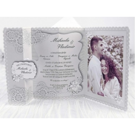 Invitatii Nunta Eleganta Cu Poza 39240