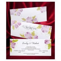 Invitatie de nunta florala 2620