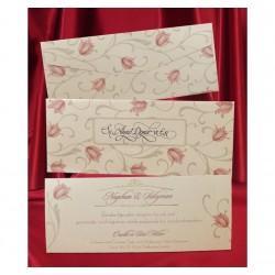 Invitatie de nunta model floral 2621