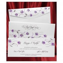 Invitatie de nunta model floral 2623
