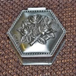Caseta pentru bijuterii cu model vintage trandafiri antimoniu