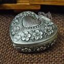 """Caseta pentru bijuterii """"Inima cu model vintage"""" antimoniu"""