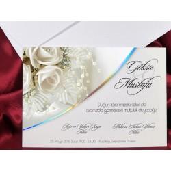 Invitatie de nunta eleganta cu trandafiri 2637