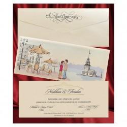 Invitatie de nunta eleganta 2642