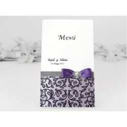 Meniu de Nunta elegant cu perla 3105