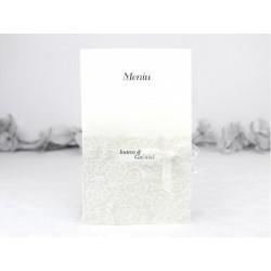 Meniu de nunta elegant cu model flori 3108