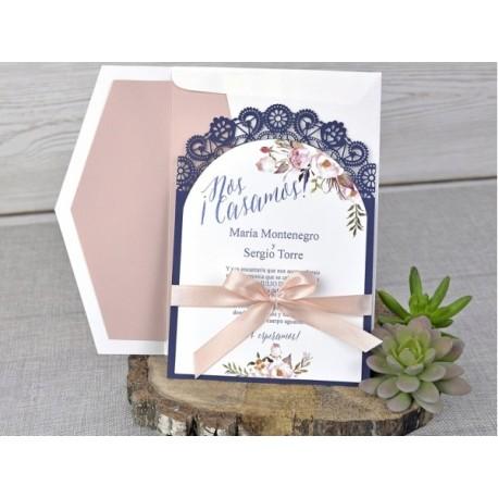 Invitatii Nunta Cu Model Floral Vintage Si Decupaj Laser 39326 1