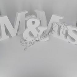 "Scris Decor lemn ""Mr & Mrs"""