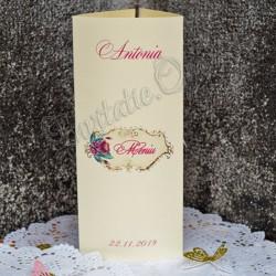 Meniu elegant cu model Floral roz