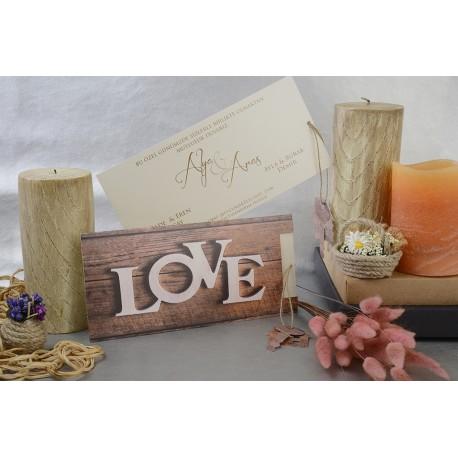 Invitatii Nunta Elegante Cu Model Rustic Love 17017