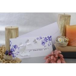 Invitatie de nunta eleganta cu fluturi 3D 17104