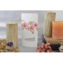 Invitatie de nunta cu trandafiri roz 17106