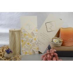 Invitatie de nunta cu model elegant frunze 17107
