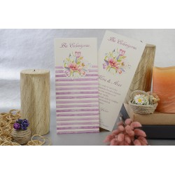 Invitatie de nunta eleganta cu buchet de flori pastel 17108