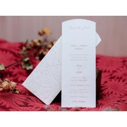 Invitatie de nunta eleganta cu fundita 482
