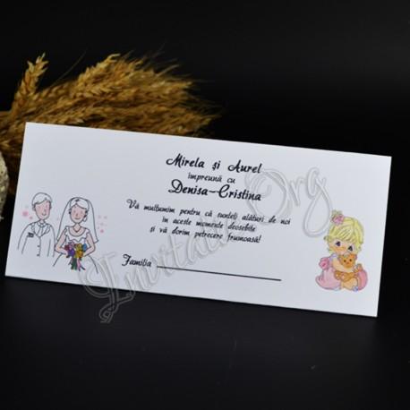 Plic De Bani Pentru Nunta Si Botez Cu Miri Si Bebelus
