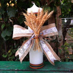 Lumanare Traditionala cu Spice de grau